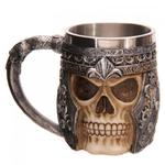 Metalowy kufel wojownika - Skull [SK163] w sklepie internetowym Gekon