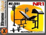 Sprzęt do siłowni 85KG!! Lawka + ciężary MAGNUS QQ w sklepie internetowym XTREME-STYLE.pl