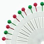 Szpilki perełki zielone,czerwone 38mm - 40szt. w sklepie internetowym Nadodatek.pl