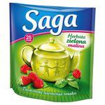 Herbata eksp. SAGA zielona z maliną op.25 w sklepie internetowym Biurowe-zakupy.pl
