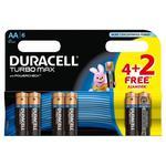 Bateria DURACELL Turbo AA LR6 op.4 + 2 free w sklepie internetowym Biurowe-zakupy.pl