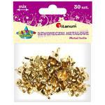 Dekoracje TITANUM dzwonki złote op.30 307938 w sklepie internetowym Biurowe-zakupy.pl