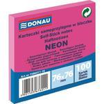 Karteczki samop. DONAU 76x76mm neon - różowy w sklepie internetowym Biurowe-zakupy.pl