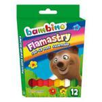 Flamastry BAMBINO 12 kolorów w sklepie internetowym Biurowe-zakupy.pl