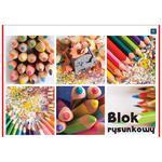 Blok rysunkowy INTERDRUK A4 biały w sklepie internetowym Biurowe-zakupy.pl