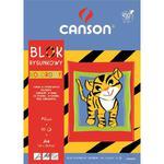 Blok rysunkowy CANSON A4 kolorowy w sklepie internetowym Biurowe-zakupy.pl