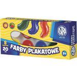 Farby plakatowe ASTRA słoiczek 10ml. 8 kolorów w sklepie internetowym Biurowe-zakupy.pl