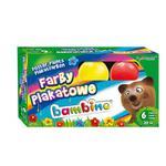 Farby plakatowe BAMBINO 6 kolorów 20ml. w sklepie internetowym Biurowe-zakupy.pl