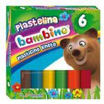 Plastelina BAMBINO 6 kolorów w sklepie internetowym Biurowe-zakupy.pl