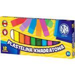 Plastelina ASTRA kwadratowa 12 kolorów w sklepie internetowym Biurowe-zakupy.pl