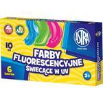 Farby plakatowe ASTRA słoiczek 10ml. 5 kol. fluo w sklepie internetowym Biurowe-zakupy.pl