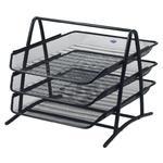 Zestaw szuflad GRAND 3 półki na dokumenty - czarne w sklepie internetowym Biurowe-zakupy.pl
