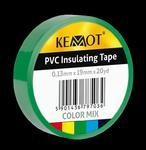 Taśma izolacyjna KEMOT 0,13x19x20Y klejąca zielony w sklepie internetowym Krzytronik.pl
