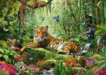 Puzzle 1500 el. Tygrysy w dżungli w sklepie internetowym TerazGry.pl