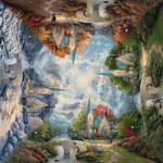 Puzzle 1000 el. THOMAS KINKADE Kościół w górach (Kwadratowe) w sklepie internetowym TerazGry.pl