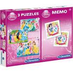 Puzzle 3w1 memo Księżniczki CLEMENTONI w sklepie internetowym TerazGry.pl