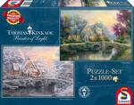 PQ Puzzle 2 x 1000 el. THOMAS KINKADE Lamplight (wiosna/zima) w sklepie internetowym TerazGry.pl