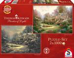 PQ Puzzle 2 x 1000 el. THOMAS KINKADE Spring Gate (wiosna/zima) w sklepie internetowym TerazGry.pl