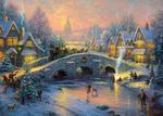 Puzzle 1000 el. THOMAS KINKADE Duch Bożego Narodzenia w sklepie internetowym TerazGry.pl
