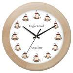 Zegar drewniany rondo coffee time w sklepie internetowym Atrix.pl