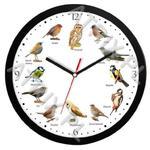 Zegar z głosami ptaków plastik czarny #2 w sklepie internetowym Atrix.pl