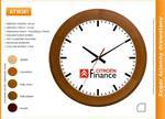 Zegar reklamowy drewniany round /300mm w sklepie internetowym Atrix.pl