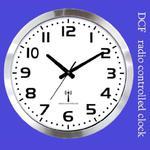 Zegar gigant radio controlled DCF #2 /40cm w sklepie internetowym Atrix.pl