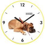 Zegar kolorowy ścienny pies bokser w sklepie internetowym Atrix.pl