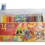 Kredki Bambino w oprawie drewnianej 24 kolory z temperówką w sklepie internetowym NaszaSzkolna.pl