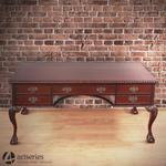 Piękne dwustronne biurko rzeźbione 117041 do gabinetu w sklepie internetowym Artseries.pl