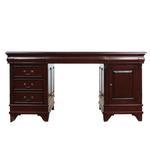 Piękne dwustronne biurko do gabinetu 117090 w drewna mahoń w sklepie internetowym Artseries.pl