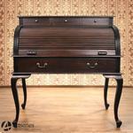 Antyczny sekretarzyk drewniany 117078 biurko stylowe z roletą w sklepie internetowym Artseries.pl