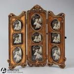Rodzinna złota ramka miejsce na 9 zdjęć 76173 antyk w sklepie internetowym Artseries.pl