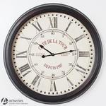 Duży okrągły wskazówkowy zegar ścienny 80547 kolor czarno bordowy w sklepie internetowym Artseries.pl