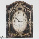 Duży wiszący zegar wykonany z drewna 77196 czarny w sklepie internetowym Artseries.pl