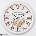 Okrągły duży zegar z motywem róży 80545 prowansja w sklepie internetowym Artseries.pl
