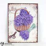 Obrazek dekoracyjny na ścianę - kosz lawendy 91394 w sklepie internetowym Artseries.pl