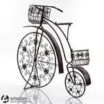 Metalowy bicykl - oryginalny stojak na kwiaty 66945 w sklepie internetowym Artseries.pl