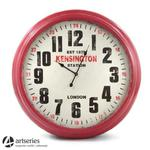 93 cm | Stylowy zegar ścienny, czerwony | bardzo duży | 97152 w sklepie internetowym Artseries.pl