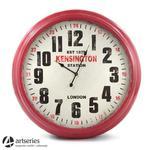 93 cm | Stylowy zegar ścienny, czerwony | bardzo duży | Kensington w sklepie internetowym Artseries.pl
