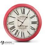 Czerwony zegar ścienny, wiszący o dużej średnicy 93 cm | Grands Prix | w sklepie internetowym Artseries.pl
