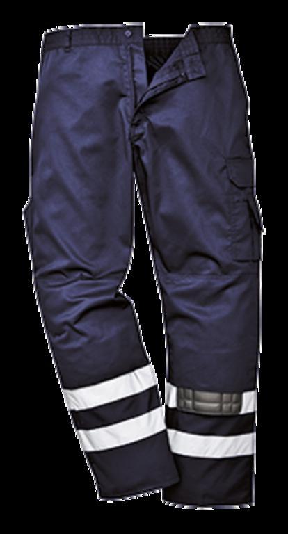 4032128074b934 Spodnie robocze bojówki odblaskowe S917 Portwest - Navy w sklepie  internetowym KRUKO.PL. Powiększ zdjęcie