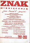 ZNAK. NR 292-293. ROK XXX. PAŹDZIERNIK-LISTOPAD (10-11) 1978 [antykwariat] w sklepie internetowym Hatteria.pl