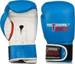 Rękawice bokserskie skórzane Montana Professional Fighter (niebieskie) / GWARANCJA 12 MSC. / Tanie RATY w sklepie internetowym Sport-Shop.pl