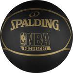 Piłka do koszykówki NBA Highlight black/gold Spalding / Tanie RATY w sklepie internetowym Sport-Shop.pl