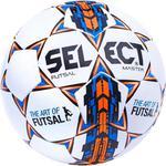 Piłka nożna Futsal Master 4 Select (biało-niebiesko-pomarańczowa) / Tanie RATY w sklepie internetowym Sport-Shop.pl