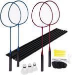 Zestaw do badmintona 4 rakiety, 2 lotki + siatka Fun Start Spokey / GWARANCJA 12 MSC. w sklepie internetowym Sport-Shop.pl