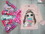 Komplet LOL JEDNOROŻEC bluzka i spódniczka z kokardką w sklepie internetowym Kidsbutik