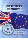 First Steps in English 2 Intensywny kurs języka angielskiego dla średnio zaawansowanych z CD i MP3 w sklepie internetowym Booknet.net.pl