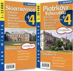 Plan miasta. Piotrków Trybunalski,Skierniewice. Plus4 w sklepie internetowym Booknet.net.pl